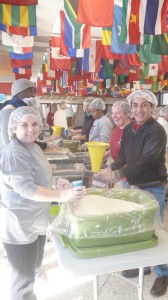 Packing meals along with the UofA community at the Arkansas Union's Connections Lounge